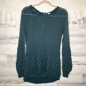 Anthropologie Moth cozy open knit sweater